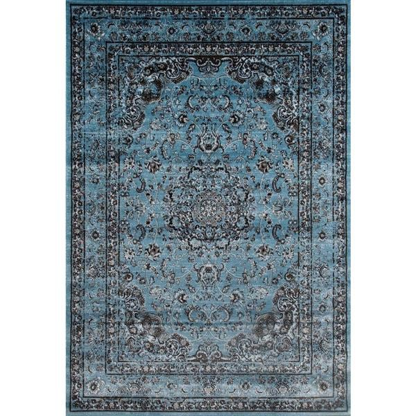 Shop Persian Rugs Antique Styled Multi Colored Blue Base
