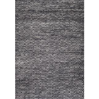 Persian Rugs Moroccan Trellis Tones of Grey Gray Area Rug (7'10 x 10'2)