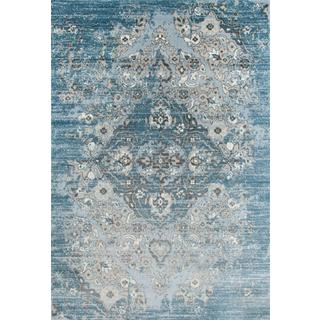 Persian Rugs Vintage Antique Designed Blue Beige Tones Area Rug (2'0 x 3'4)