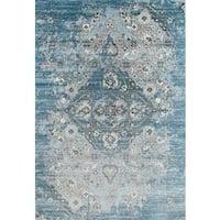 """Persian Rugs Vintage Antique Designed Blue Beige Tones Area Rug (2'0 x 3'4) - 2' x 3'4"""""""