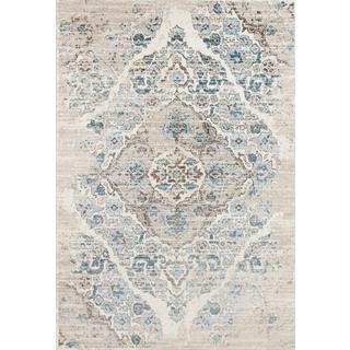 Persian Rugs Vintage Antique Designed Cream Beige Tones Area Rug - 2' x 3'4""