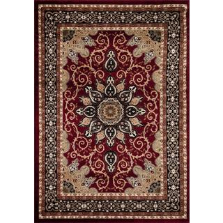 Persian Rugs Oriental Traditional Red Multi Colored Area Rug (4'0 x 5'3)