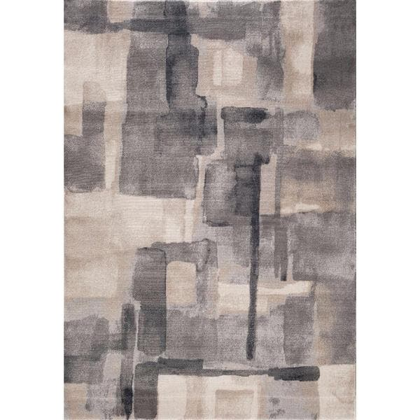 Shop Persian Rugs Modern Abstract Neutral Colors Area Rug
