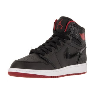 Nike Jordan Kids Air Jordan 1 Retro High Bg Black/Gym Red/White Basketball Shoe