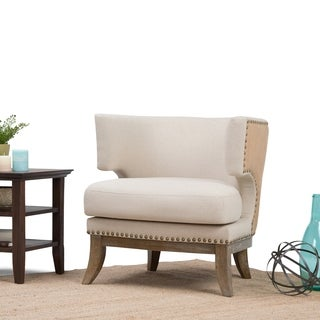 WYNDENHALL Madden Linen Look Accent Chair