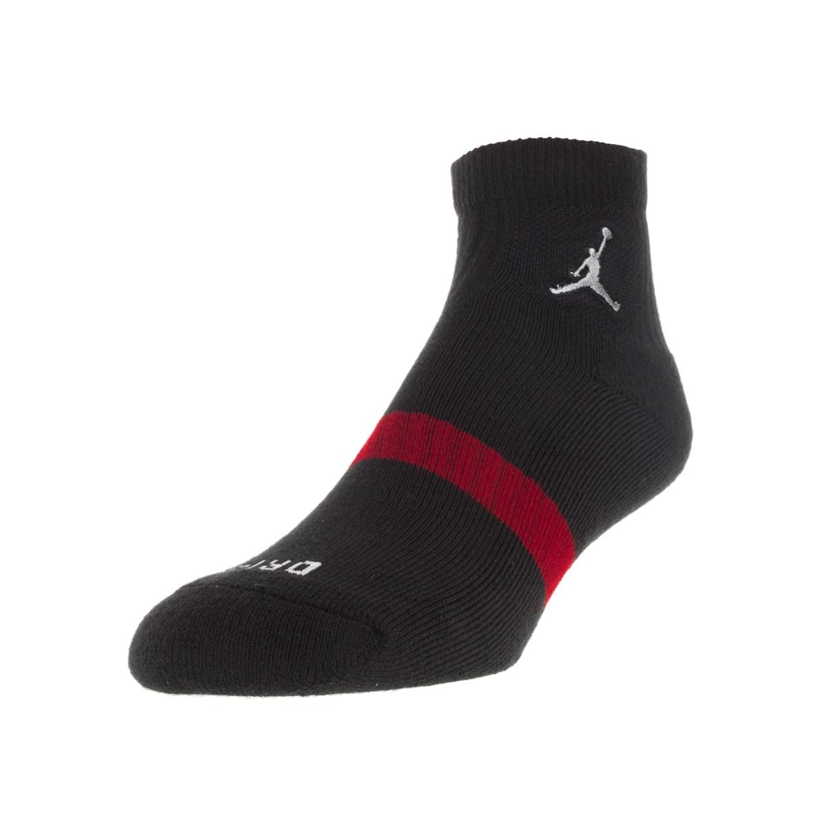Nike Jordan Men's Low Quarter Dri-Fit Small Socks (S), Bl...