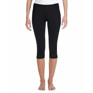 Capri Women's Black Cotton/Spandex Slim-fit Leggings (4 options available)