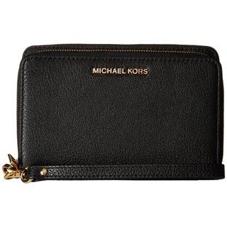 Michael Kors Adele Black/Gold Large Smartphone Wristlet Wallet