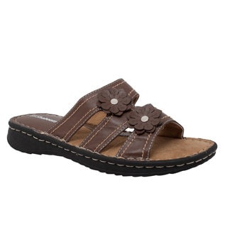 Women's Flower Slide Brown
