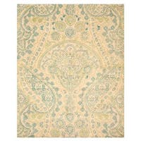 Hand-tufted Wool Ivory Transitional Paisley Jain Rug (8'9 x 11'9) - 8'9 X 11'9