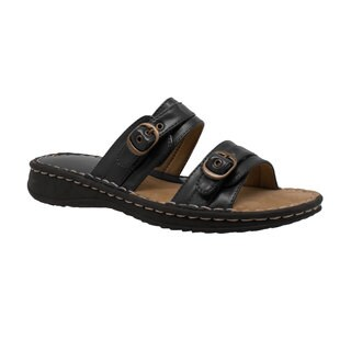Women's 2 Buckle Slide Black