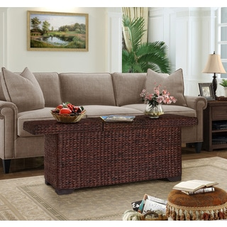 Gallerie Decor All In One Expanding Brown Wood Coffee Table