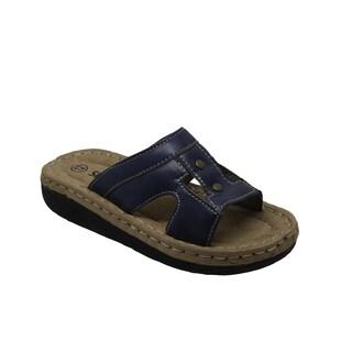 Children's Band Slide Sandal Navy (More options available)