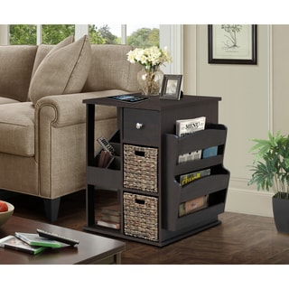 Gallerie Decor All in One Revolving Side Table/Cabinet
