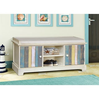 Gallerie Decor Seaside Multicolored Wood Storage Bench