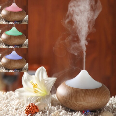 Wood Grain Aromatherapy Ultrasonic Aroma Diffuser and Humidifier