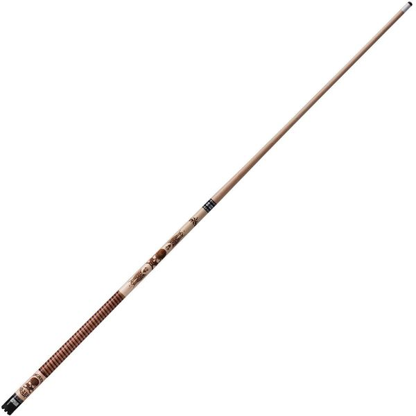 Viper 2-Piece Desperado Death Mark Brown Wood 58-inch Billiard Cue Stick