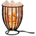Zennery Himalayan Salt Wrought Iron Salt Basket Upright Lamp
