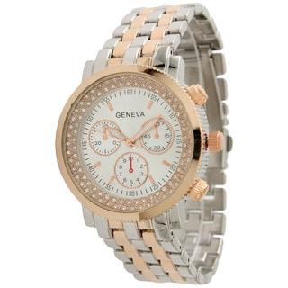 Olivia Pratt Elegant Two Tone Bracelet Watch