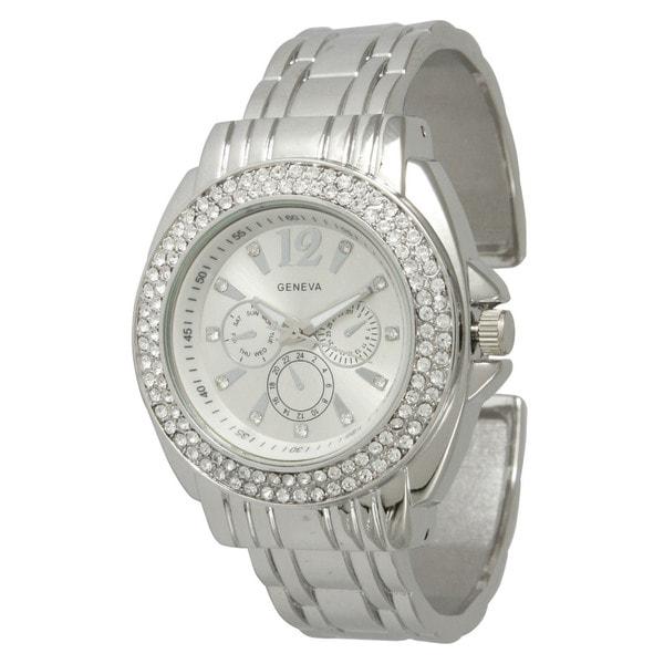 Olivia Pratt Rhinestone Bangle Watch