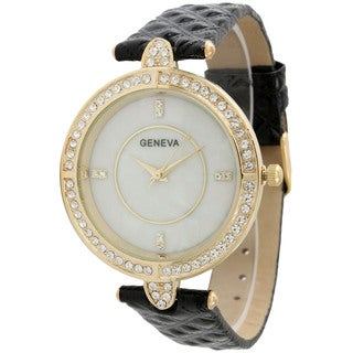 Olivia Pratt Vintage Style Women's Faux-Leather Watch