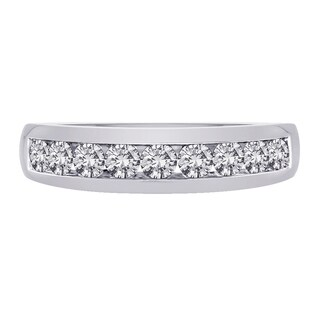 14k White Gold 1ct TDW White Diamond Fashion Men's Ring (G-H, I2)