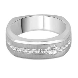 14k White Gold 3/5ct TDW White Diamond Fashion Men's Ring (G-H, I2)