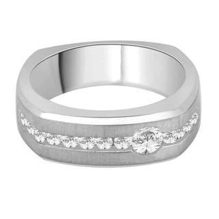 14k White Gold 3/5ct TDW White Diamond Fashion Men's Ring (G-H, I2)