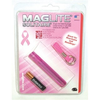 Breast Cancer Awareness Pink Plastic Single-cell Flashlight