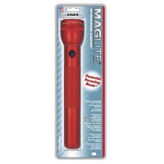 Mag Instrument Red Aluminum 3 D-cell Flashlight