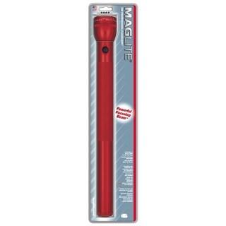 Mag Instrument Red Aluminum 6 D-cell High-lumen Flashlight