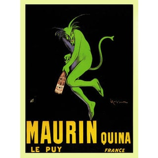NA Leonetto Cappiello 'Maurin Quina 1920' Vintage Advertisement Gallery Wrapped Canvas Wall Art