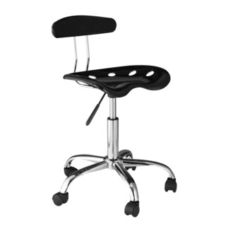 OneSpace Task Chair with Tractor Seat (Option: Black - Black Finish)