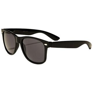 Retro Rewind Classic Unisex Wayfarer-style Black Plastic Polarized Sunglasses