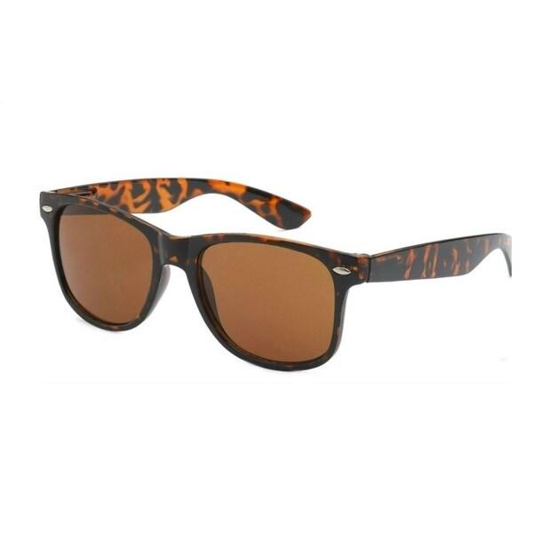 9cbfd2557d Shop Retro Rewind Classic Wayfarer Style Tortoise Polarized Sunglasses -  Free Shipping On Orders Over  45 - Overstock - 12348985