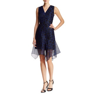 Elie Tahari Eloise Blue/Black Party Dress