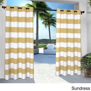 ATI Home Indoor/Outdoor Cabana Striped Grommet-top Window Curtain Panel Pair