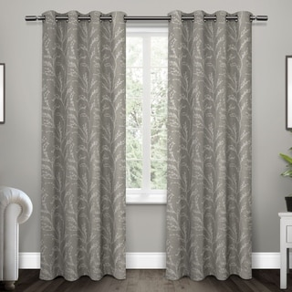 ATI Home Kilberry Woven Polyester Blackout Grommet Top Window Curtain Panel Pair