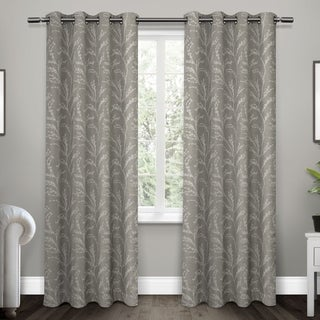 ATI Home Kilberry Woven Blackout Curtain Panel Pair with Grommet Top