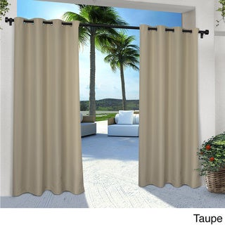 ATI Home Indoor/ Outdoor Solid Cabana Grommet Top Curtain Panel Pair