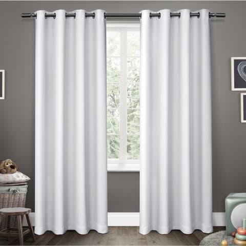 ATI Home Sateen Room Darkening Kids Grommet Top Window Curtain Panel Pair (As Is Item)