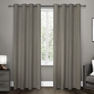 ATI Home Melrose Woven Room Darkening Grommet-top Window Curtain Panel Pair