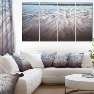 Ocean Beach Water Motion - Seashore Canvas Wall Art