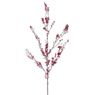 Snowy Red 42-inch Berry Branch