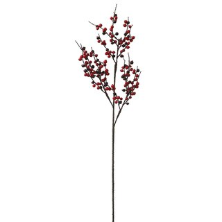Vickerman 38-inch Red and Burgundy Outdoor Berry Branch