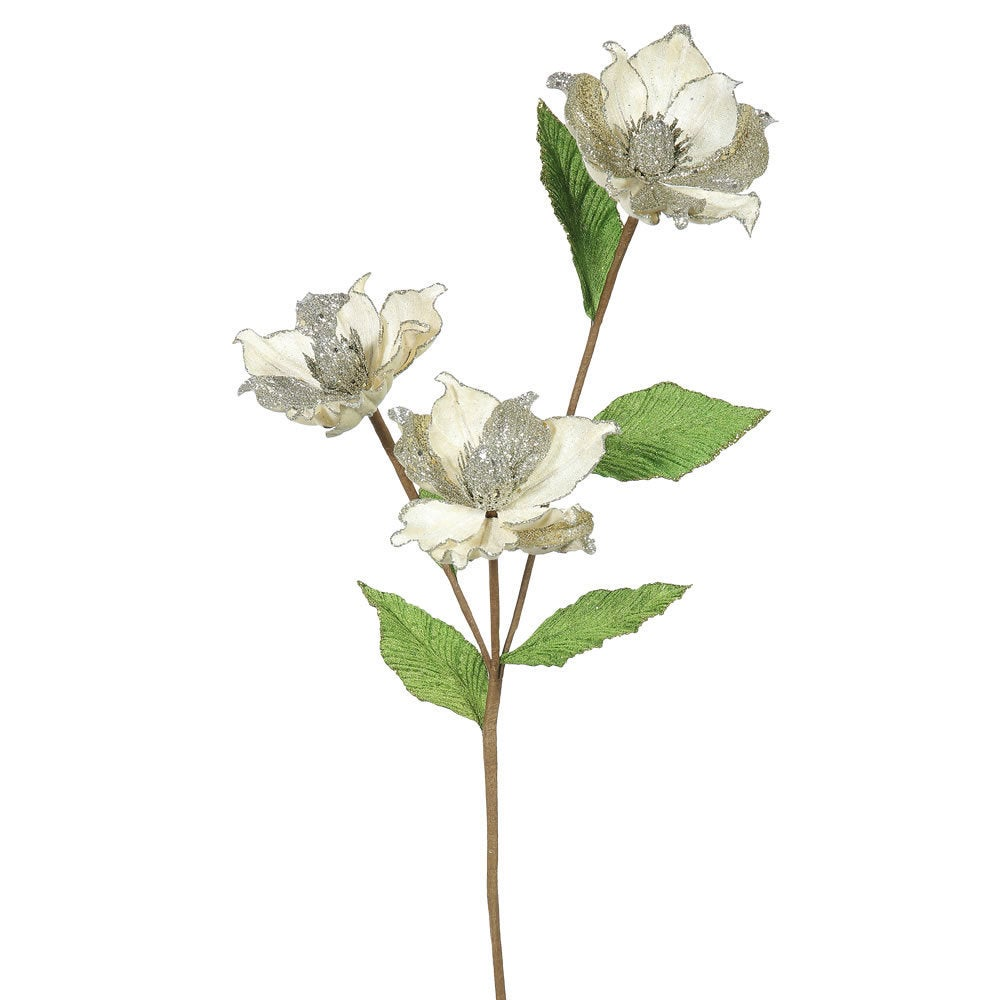 Vickerman 33-inch Champagne Magnolia with 3 4-inch Flower...