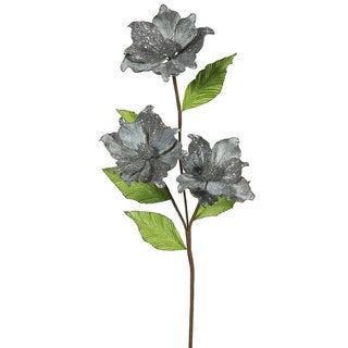 Vickerman 33-inch Pewter Magnolia with 4-inch Flowers (Pack of 6)