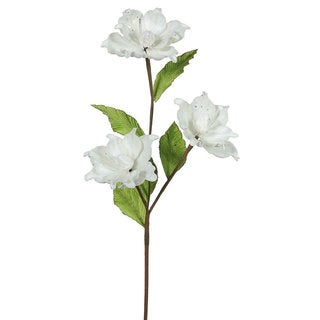 Vickerman Cream 33-inch Magnolia with 3 4-inch Flowers (Pack of 6)