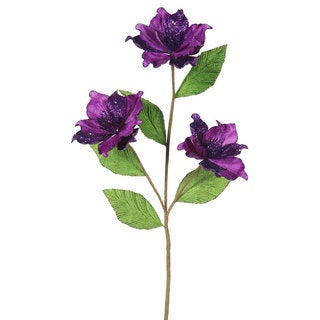 33-inch Purple Magnolia with 4-inch Flowers (Pack of 6)
