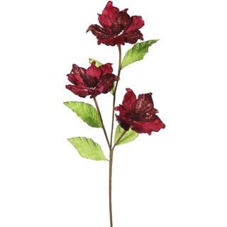 Vickerman 32-inch Burgundy Magnolia Flowers (Pack of 6)